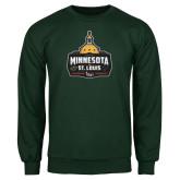 Dark Green Fleece Crew-Minnesota vs St Louis