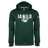 Under Armour Dark Green Performance Sweats Team Hoodie-IAWILD