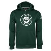 Under Armour Dark Green Performance Sweats Team Hoodie-Iowa Wild Seal One Color
