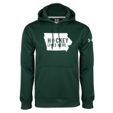 Under Armour Dark Green Performance Sweats Team Hoodie-Hockey Lives Here State