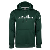 Under Armour Dark Green Performance Sweats Team Hoodie-Hockey Lives Here Cityscape Cutout
