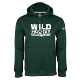 Under Armour Dark Green Performance Sweats Team Hoodie-Wild Hockey
