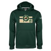 Under Armour Dark Green Performance Sweats Team Hoodie-Iowa Wild Block Design