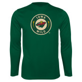 Performance Dark Green Longsleeve Shirt-Secondary Mark