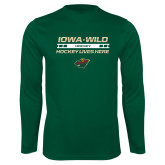 Performance Dark Green Longsleeve Shirt-Hockey Lives Here