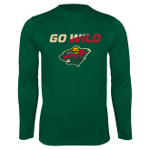 Performance Dark Green Longsleeve Shirt-Go Wild
