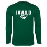 Syntrel Performance Dark Green Longsleeve Shirt-IAWILD