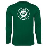 Syntrel Performance Dark Green Longsleeve Shirt-Iowa Wild Seal One Color