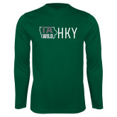 Syntrel Performance Dark Green Longsleeve Shirt-IA WILD HKY