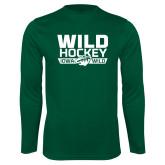Syntrel Performance Dark Green Longsleeve Shirt-Wild Hockey