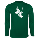 Syntrel Performance Dark Green Longsleeve Shirt-Skates