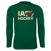 Performance Dark Green Longsleeve Shirt-IA Hockey w State