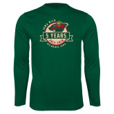 Performance Dark Green Longsleeve Shirt-5 Years
