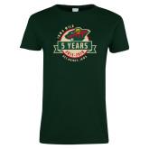 Ladies Dark Green T Shirt-5 Years