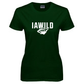 Ladies Dark Green T Shirt-IAWILD