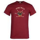 Cardinal T Shirt-Iowa Wild 2013 Hockey Sticks
