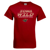 Cardinal T Shirt-Iowa Wild Lined Design