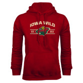 Cardinal Fleece Hoodie-Iowa Wild Arched