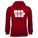 Cardinal Fleece Hoodie-Hockey Lives Here State