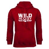 Cardinal Fleece Hoodie-Wild Hockey