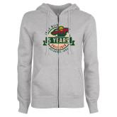 ENZA Ladies Grey Fleece Full Zip Hoodie-5 Years