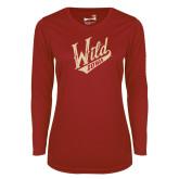 Ladies Syntrel Performance Cardinal Longsleeve Shirt-Primary Mark