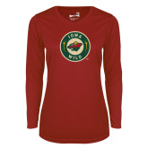 Ladies Syntrel Performance Cardinal Longsleeve Shirt-Secondary Mark