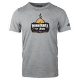 Adidas Sport Grey Logo T Shirt-Minnesota vs St Louis