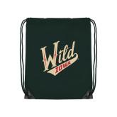 Dark Green Drawstring Backpack-Primary Mark
