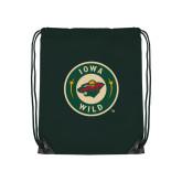 Dark Green Drawstring Backpack-Secondary Mark