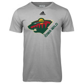 Adidas Climalite Sport Grey Ultimate Performance Tee-Iowa Wild w Bear Head