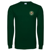 Dark Green Long Sleeve T Shirt-Secondary Mark