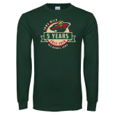 Dark Green Long Sleeve T Shirt-5 Years
