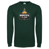 Dark Green Long Sleeve T Shirt-Minnesota vs St Louis