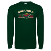Dark Green Long Sleeve T Shirt-Iowa Wild Arched
