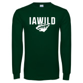 Dark Green Long Sleeve T Shirt-IAWILD