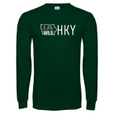 Dark Green Long Sleeve T Shirt-IA WILD HKY