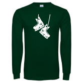 Dark Green Long Sleeve T Shirt-Skates