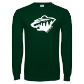 Dark Green Long Sleeve T Shirt-Bear Head