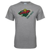 Grey T Shirt-Iowa Wild w Bear Head