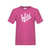 Youth Fuchsia T Shirt-Primary Mark