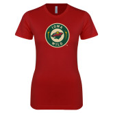 Next Level Ladies SoftStyle Junior Fitted Cardinal Tee-Secondary Mark