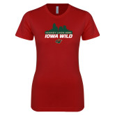 Next Level Ladies SoftStyle Junior Fitted Cardinal Tee-Hockey Lives Here Cityscape