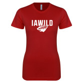 Next Level Ladies SoftStyle Junior Fitted Cardinal Tee-IAWILD