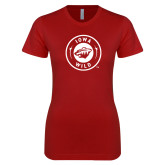 Next Level Ladies SoftStyle Junior Fitted Cardinal Tee-Iowa Wild Seal One Color