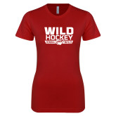 Next Level Ladies SoftStyle Junior Fitted Cardinal Tee-Wild Hockey