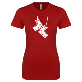 Next Level Ladies SoftStyle Junior Fitted Cardinal Tee-Skates