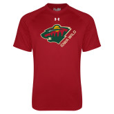 Under Armour Cardinal Tech Tee-Iowa Wild w Bear Head