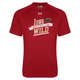 Under Armour Cardinal Tech Tee-Iowa Wild Banner Design