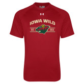 Under Armour Cardinal Tech Tee-Iowa Wild Arched